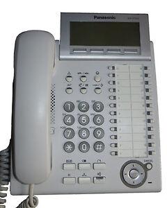 Panasonic System-Telefon mit LCD Anzeige weiß Neu