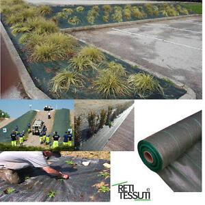 Telo tessuto per pacciamatura verde per orto giardino anti - Telo tessuto non tessuto giardino ...