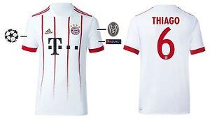 Trikot Adidas Fc Bayern 2017 2018 Third Thiago 6 L Champions