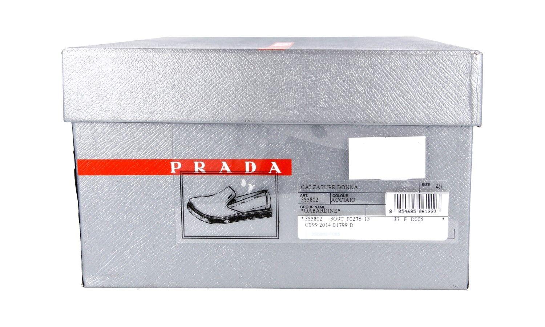 LUXUS PRADA SNEAKER SCHUHE 3S5802 GABARDINE GRAU NEU 7 NEW 40 40,5 UK 7 NEU 86a4ed
