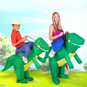 Ride-On-Dinosaur-Costume-Inflatable-Blow-Up-Outdoor-Toys-Fancy-Dress-Costume