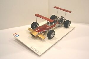 Tamiya-1-12-Lotus-49B-1968-Formule-1-n-1-Ref-1204-Modele-monte-sur-socle