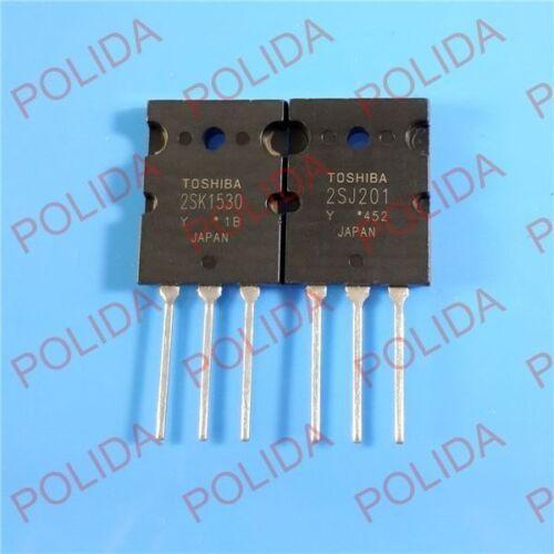 1 Par Toshiba TO-3PL 2SJ201-Y//2SK1530-Y 2SJ201//2SK1530 100/% Original Y Nuevo