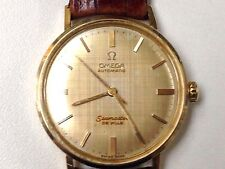 VINTAGE 14K YELLOW GOLDFILLED OMEGA SEAMASTER DEVILLE AUTOMATIC WATCH CAL550 17J