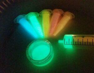YG-380S-50g-GRUN-leucht-Pigment-fuer-Lack-Farbe-fluoreszierende-Schwarzlicht-UV