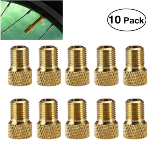 10Pcs Presta to Schrader Valve Adapter Converter Bicycle Bike Tire Tube Sports
