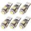 6-Pcs-T10-5050-W5W-5-SMD-DEL-voiture-Side-coin-Feu-Arriere-Ampoule-De-Lampe-DC-12-V-Blanc miniature 1