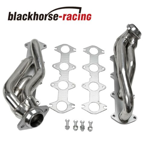 Stainless Exhaust Manifold Shorty Headers manifold Fits Ford F150 5.4L V8 04-10
