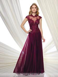 b7afe0a67b4 NEW MONTAGE Mon Cheri 216970 Formal Evening BURGUNDY Dress GOWN 12 ...
