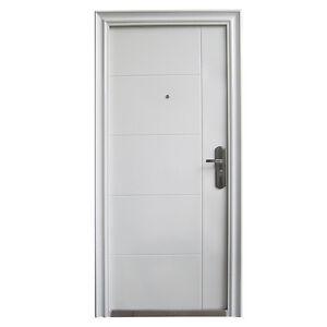 haust r t r sicherheitst r wohnungst r haust ren 96x205cm din rechts weiss ebay. Black Bedroom Furniture Sets. Home Design Ideas