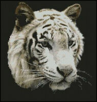 "White Tiger 4 Complete Counted Cross Stitch Kit 10""x10"""