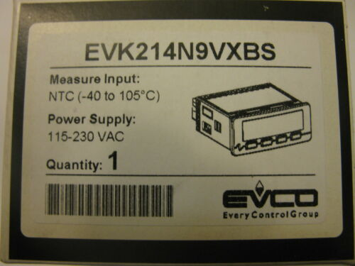 EVCO EVK214N9VXBS  115-230VAC Replacement DIXELL XR60 OR XR06 OR ELIWELL ID 974