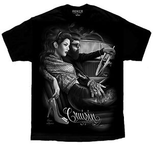 Cruzin-Lowrider-Tattoo-Rockabilly-Greaser-Pinup-David-Gonzales-DGA-Art-T-Shirt