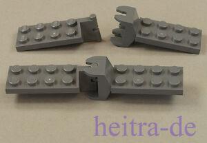 LEGO-2-x-Gelenk-2x4-dunkelgrau-Scharnier-Kupplung-3639-3640-3640c01-NEUWARE