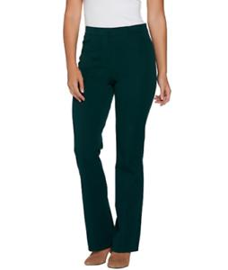 Isaac-Mizrahi-24w-petite-dark-emerald-24-7-stretch-boot-cut-fly-front-pants
