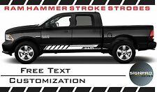 Dodge Ram 2009-15 HAMMER STROKE Rocker Stripe Vinyl Decal Colors Custom