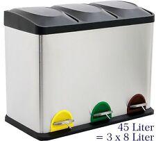 45 Liter Treteimer Mülltrennung Mülleimer Abfalleimer