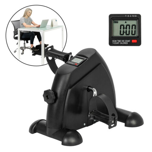 Portable Exercise Bike Pedal Hand Feet Trainer Fitness Stepper Calories w// LCD