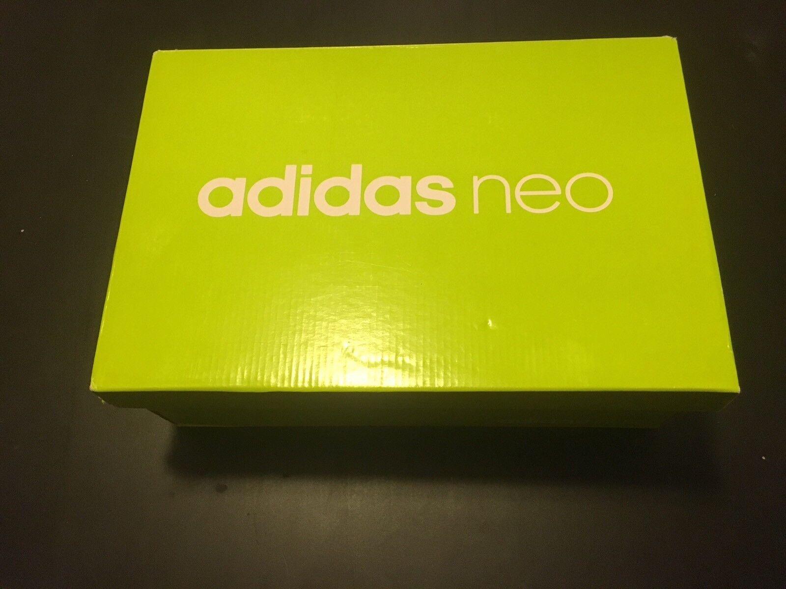adidas neo - vs - tempo b74316 männer grau - vs weiß leder schuhe in größe 10 nib 664ac9