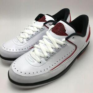 new arrival f1ba1 e9d0a Details about Nike Air Jordan 2 Retro Low Men's Basketball Shoes  White/Red-Black 832819-101