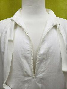 Vintage-Alba-Irlandes-Lino-Plan-Corbata-Cuello-Medio-2-Raro