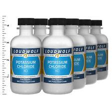 Potassium Chloride 2 Lb Total 8 Bottles Food Grade Fine Powder Usa Seller
