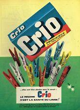 F- Publicité Advertising 1958 La Lessive Crio