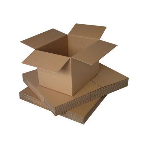 50 SCATOLE IN CARTONE 3 STRATI 145X145X210 ONDA SINGOLA IDEALI X SPEDIRE CD//DVD