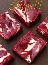 "☆Dense & Delicious!☆Red Velvet Cheesecake Swirl Brownies ""RECIPE""!☆"