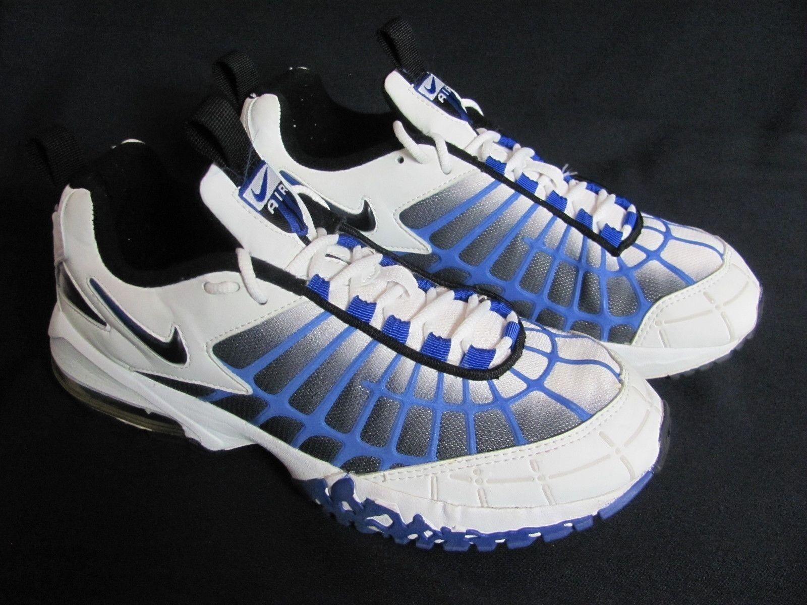 Nike 1999 Air Max Spider Web diseño blanco Varsity especial Azul Hombre us 8,5 especial Varsity de tiempo limitado da5eea