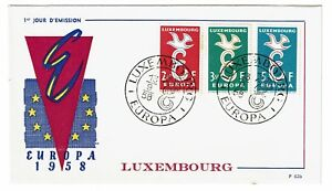 LUXEMBOURG-1958-EUROPA-FIRST-DAY-COVER-Z40
