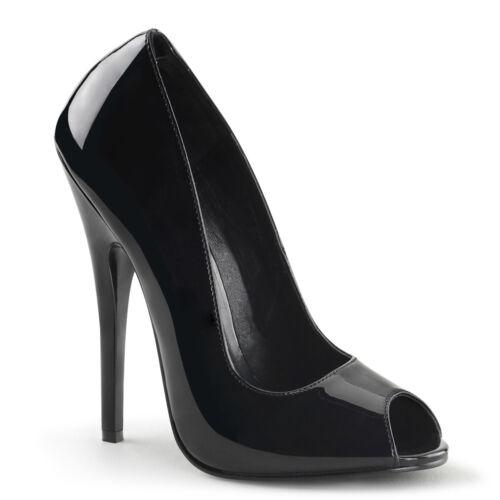 Black Stiletto Peep Toe High Heels Mens Crossdresser Drag Queen Shoes 13 14 15