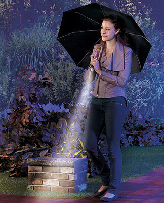 Black Umbrella with LED Flashlight Handle