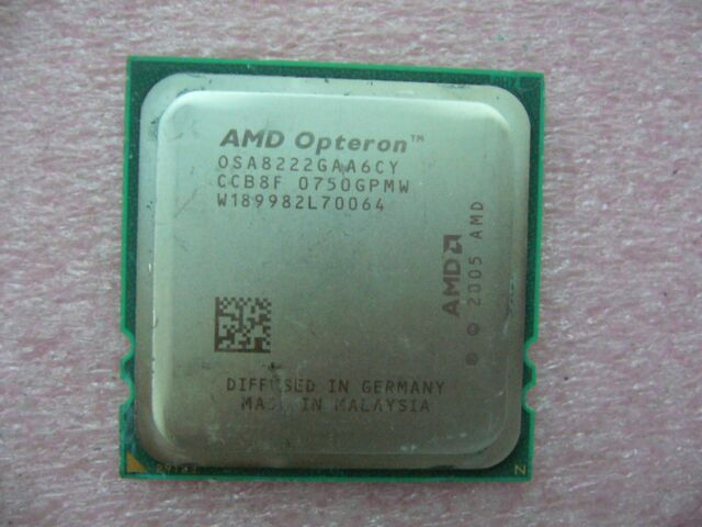 QTY 1x AMD OSA8222GAA6CY Opteron 8222 3.0 GHz Dual Core CPU Socket F 1207