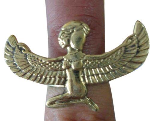 Anillo Dedo egipcio jeroglíficas Horus Ojo Ankh faraón mano de Isis grabado 105