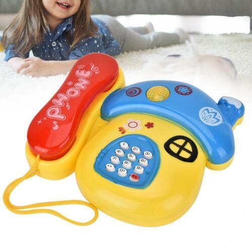 Baby Spielzeugtelefon Kindertelefon Spieltelefon Festnetz mit Musik