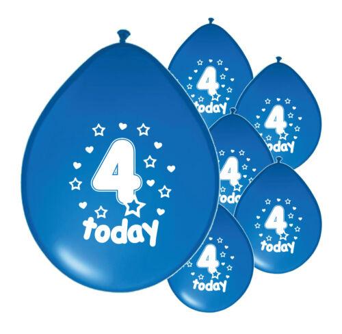 PA 10 x 4th BIRTHDAY BOY// AGE 4 BOY BLUE AND BABY BLUE BIRTHDAY BALLOONS