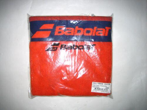 Babolat Sporttennishandtuch orange blau mit Aufschrift 100/%Baumwolle neu mit Eti