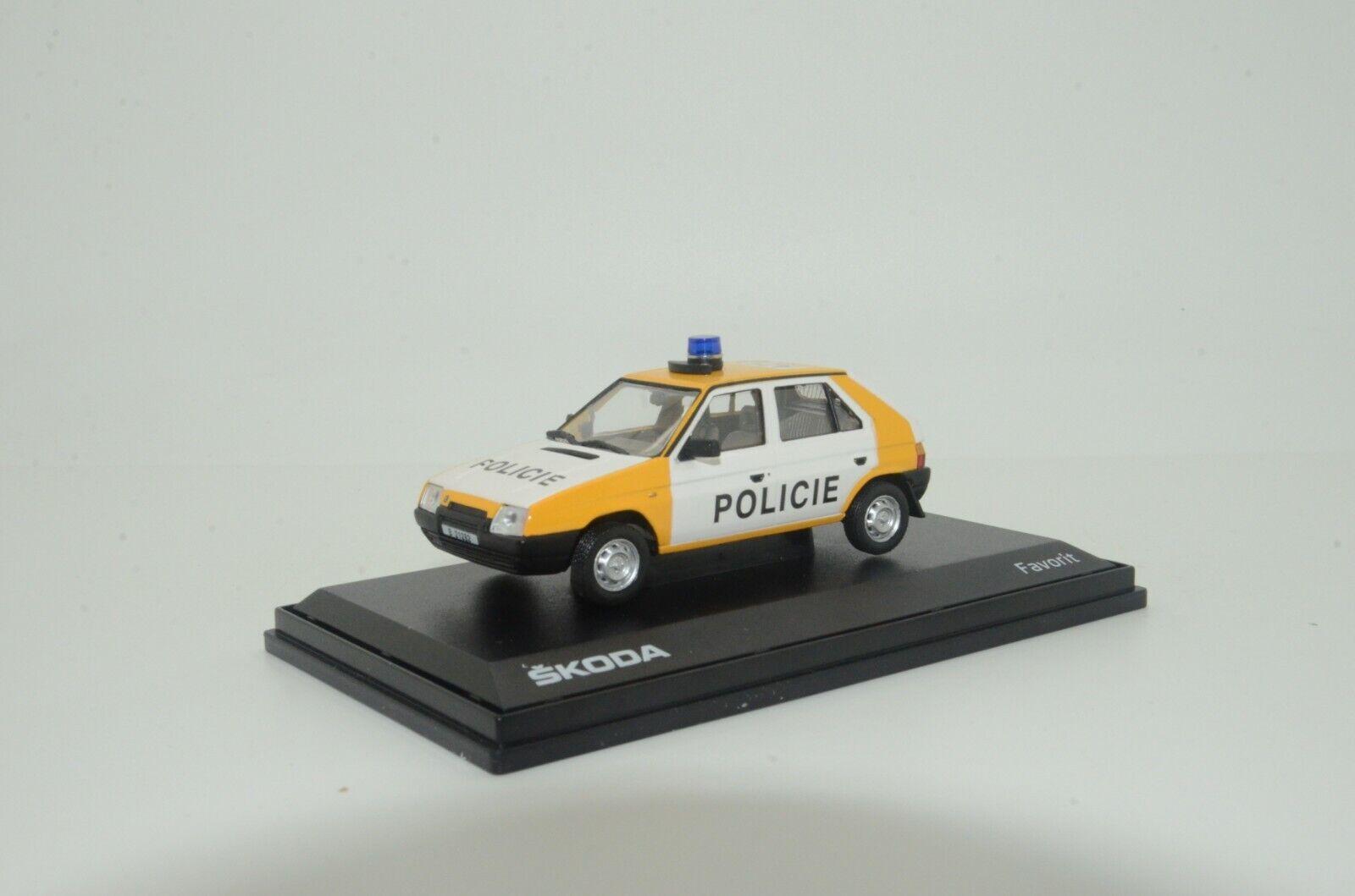 Rare    SKODA FAVORIT Policie CR Police Abrex ABS708XA1 1 43