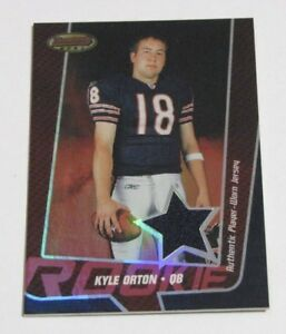 Details about 2005 Bowman's Best Red #118 Kyle Orton Jersey Relic Serial # /199