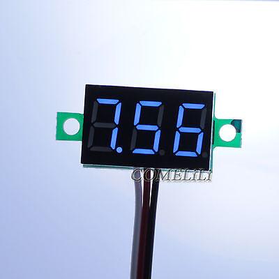 Mini DC 0.1-30V Blue LED Display Digital Voltage Voltmeter Panel for Motorcycle
