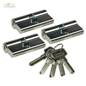3 Schließzylinder 5 Schlüssel Zylinderschloss Profil-Zylinder gleichschließend