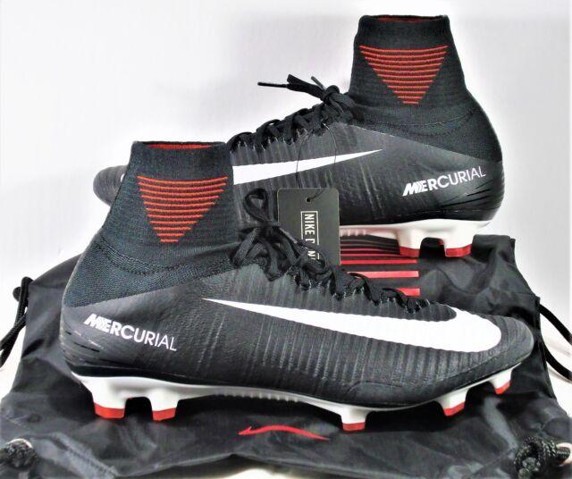 separation shoes d96e7 1b78c Nike Mercurial Superfly V DF FG Flyknit ACC Black & White Sz 10.5 NEW  831940 002