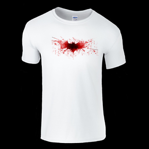 Batman Dark Knight Logo in Blood T-Shirt Mens /& Ladies available Top Trends