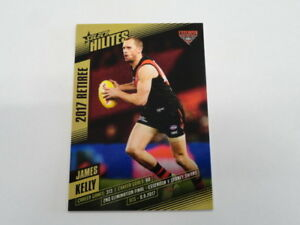 Sports Trading Cards Amicable 2017 Afl Select Hilites Retiree Card Shr7 James Kelly Essendon 146/218