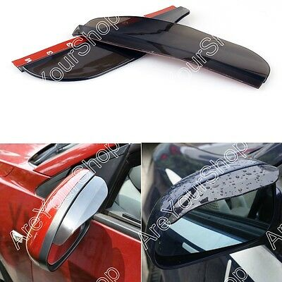 2 Black Rear View Side Mirror Flexible Sun Visor Shade Rain Shield Water Guard K