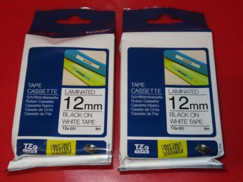 1x Brother P-touch tape TZe-231  Schriftbandkassette Beschriftungsband ORIGINAL