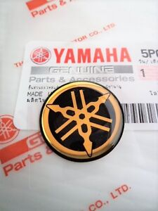 Genuine Yamaha 12mm Tuning Fork Logo Gold Black Gel Emblem Sticker Uk Stock Ebay