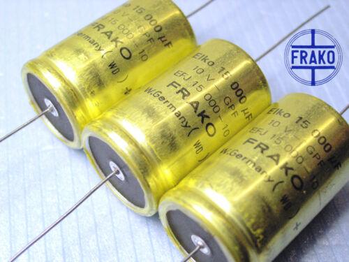10V  FRAKO EFJ Audio Grade! 15000uF Electrolytic caps x 50 pieces