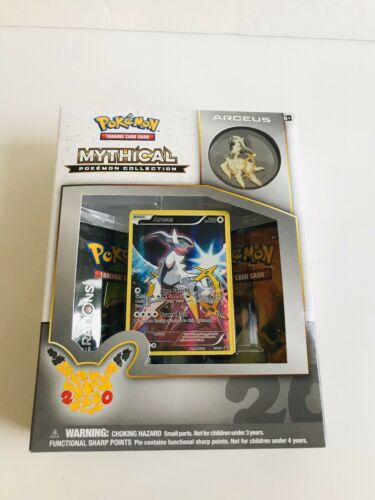 Arceus Mythical Collection Pin Box Pokemon TCG Generations Packs 20 Anniversary